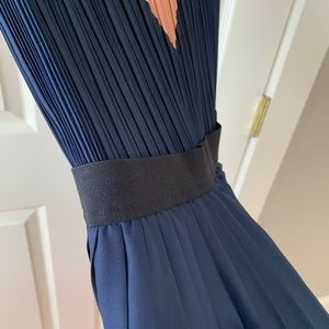 "BCBGMaxAzria Dresses - BCBG ""Kathrine"" colorblock pleated Maxi Dress"